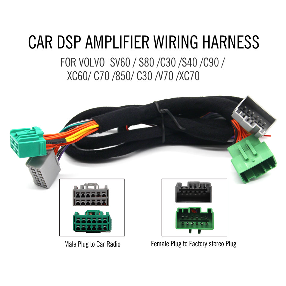 Car DSP Amplifier Wring harness cable for VOLVO SV60 / S80 /C30 /S40 /C90  /XC60/ C70 /850/V70/XC70|Cables, Adapters & Sockets| - AliExpress | Volvo 850 Wire Harness |  | AliExpress