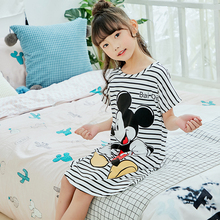 Летнее Ночное платье для девочек Детская ночная рубашка юбка принцессы с короткими рукавами для сна детская ночная рубашка для девочек, одежда г., продукт