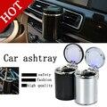 Free Shipping Unique LED Light Ashtray Car Travel Cigarette Ashtray Holder Auto Portable Car Ashtray Holder Durable Movable