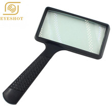 Portable Handheld 3X high definition Rectangle Reading Magnifier Glass lens Loupe for old people reading magnifier
