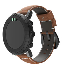 Купить с кэшбэком watchband Luxury Bracelet leather watch strap For Suunto Core Smart watch Adjustable Replacement Strap Wristband Accessories