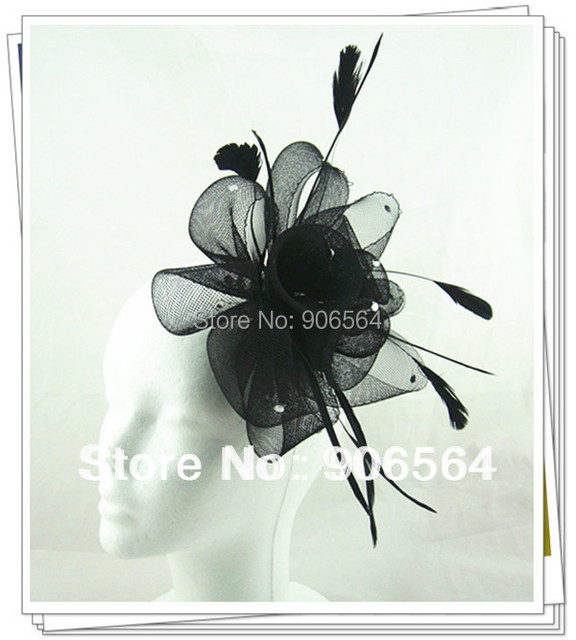17 colors fascinator hats nice crinoline and feather hats cute occasion millinery headpiece party hats