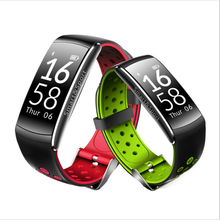 IP68 Профессиональный Водонепроницаемый Лето Одежда заплыва Фитнес Smart Браслет двойной Цвета Мода ремень шагомер, калории, пульс трекер