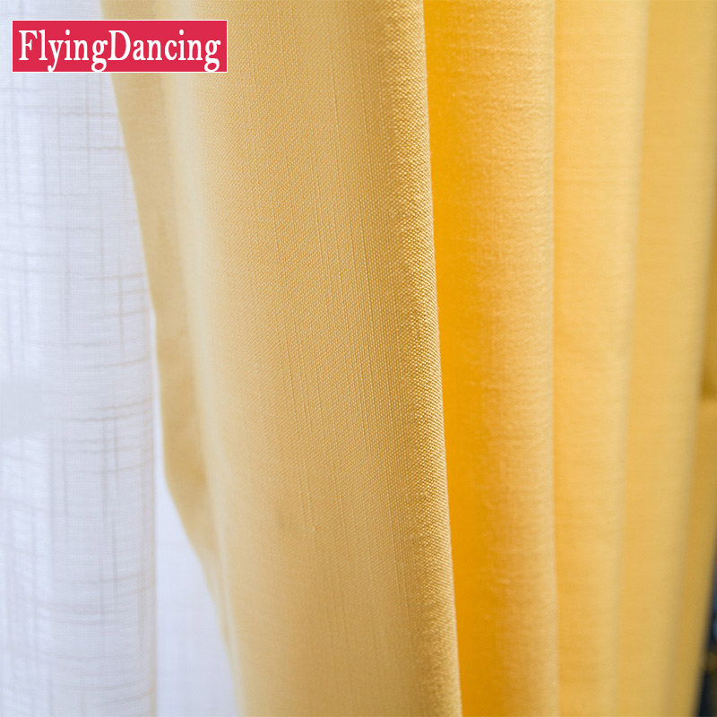 yellow curtains for bedroom. Splice Linen Yellow Curtains For Living Room Gromment Modern Style Curtain  for Bedroom Bright Window Home Textile FD986 in from