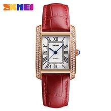 цена на SKMEI Quartz Wrist 1281 Watches For Women Top Fashion Casual Leather Bracelet Watch Ladies Wristwatches Relogios Feminino Reloj