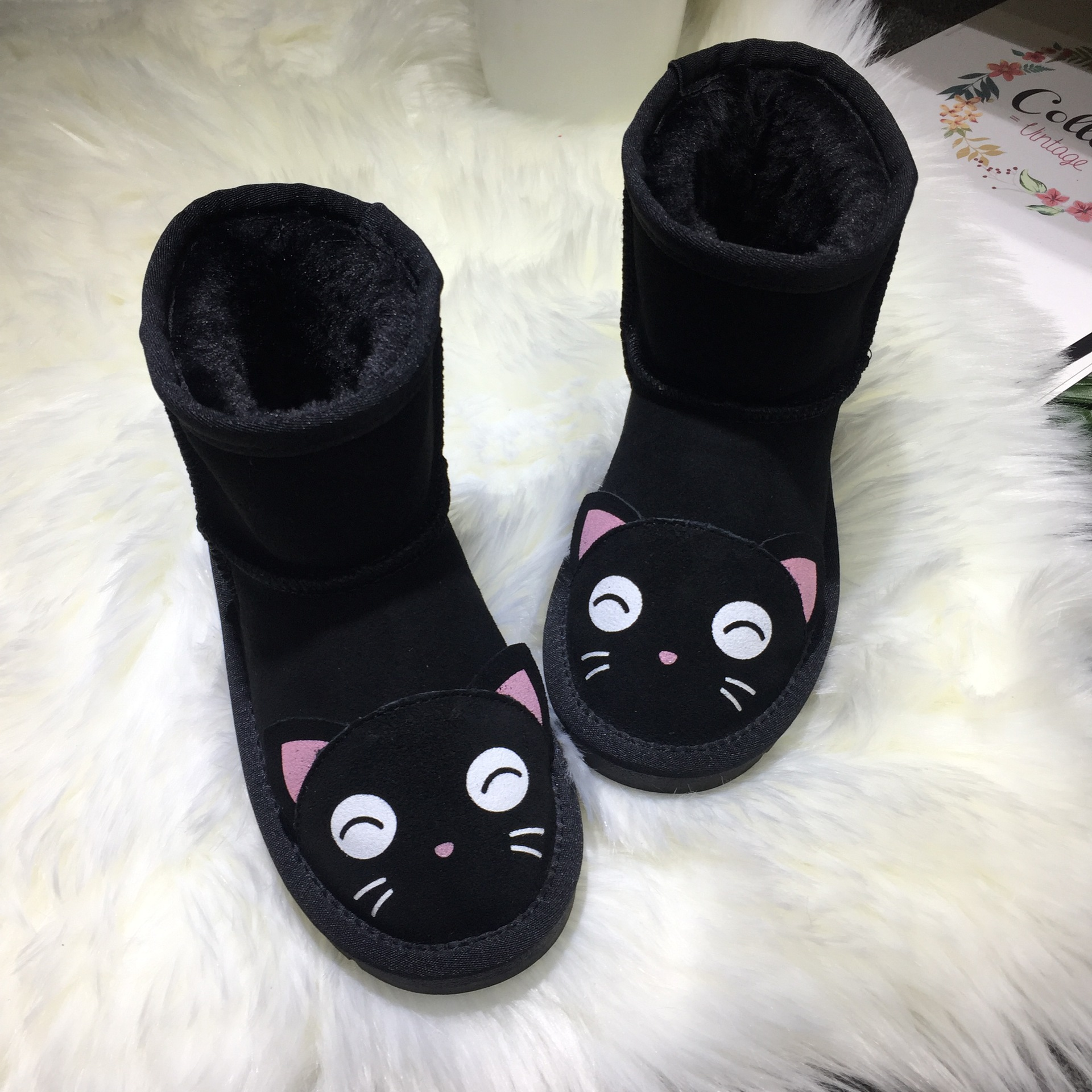 Kid Baby Leather Cartoon Children Snow Boots Boys Girls High-cut Warm Shoes Cartoon Snow Non-slip Cut ShoesKid Baby Leather Cartoon Children Snow Boots Boys Girls High-cut Warm Shoes Cartoon Snow Non-slip Cut Shoes