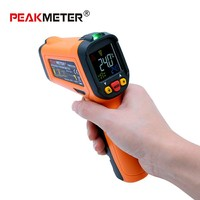 PEAKMETER Digital non contact Infrared Thermometer PM6530 series 12:1 K type Ambient UV Light MS6530 thermometer tester