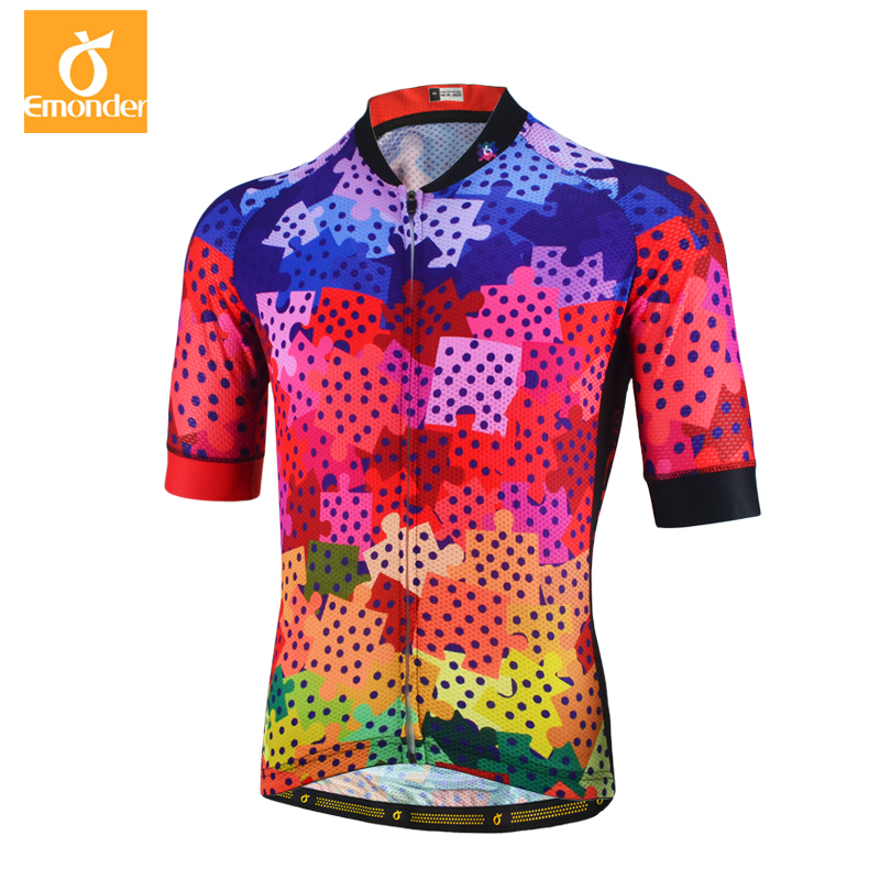 Emonde Cycling Jersey Custom 2018 Pro Team Men Summer MTB Road Bike Jersey  Breathable Cozy Bicycle Jersey Cycling Clothing -in Cycling Jerseys from  Sports ... 46fa44b04