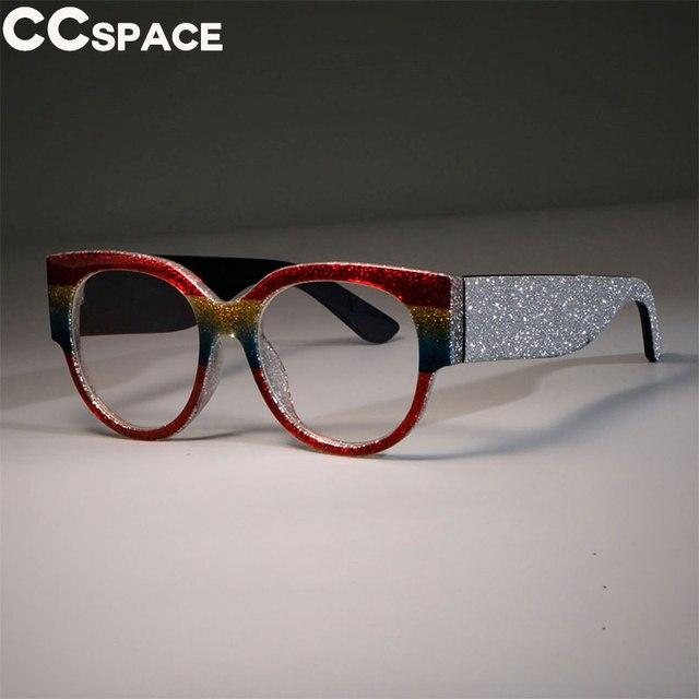 17f2c6830 Luxury Brand Cat Eye Glasses Frames Women Bling Legs Trending Square Fashion  Computer Glasses Female Decorative