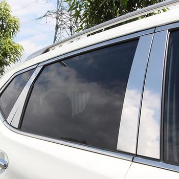 Ze stali nierdzewnej dla Nissan Rogue x-trail X Trail XTrail drzwi okno Chrome filar posty pokrywa akcesoria do wykończeń samochodowych 2014- 2018