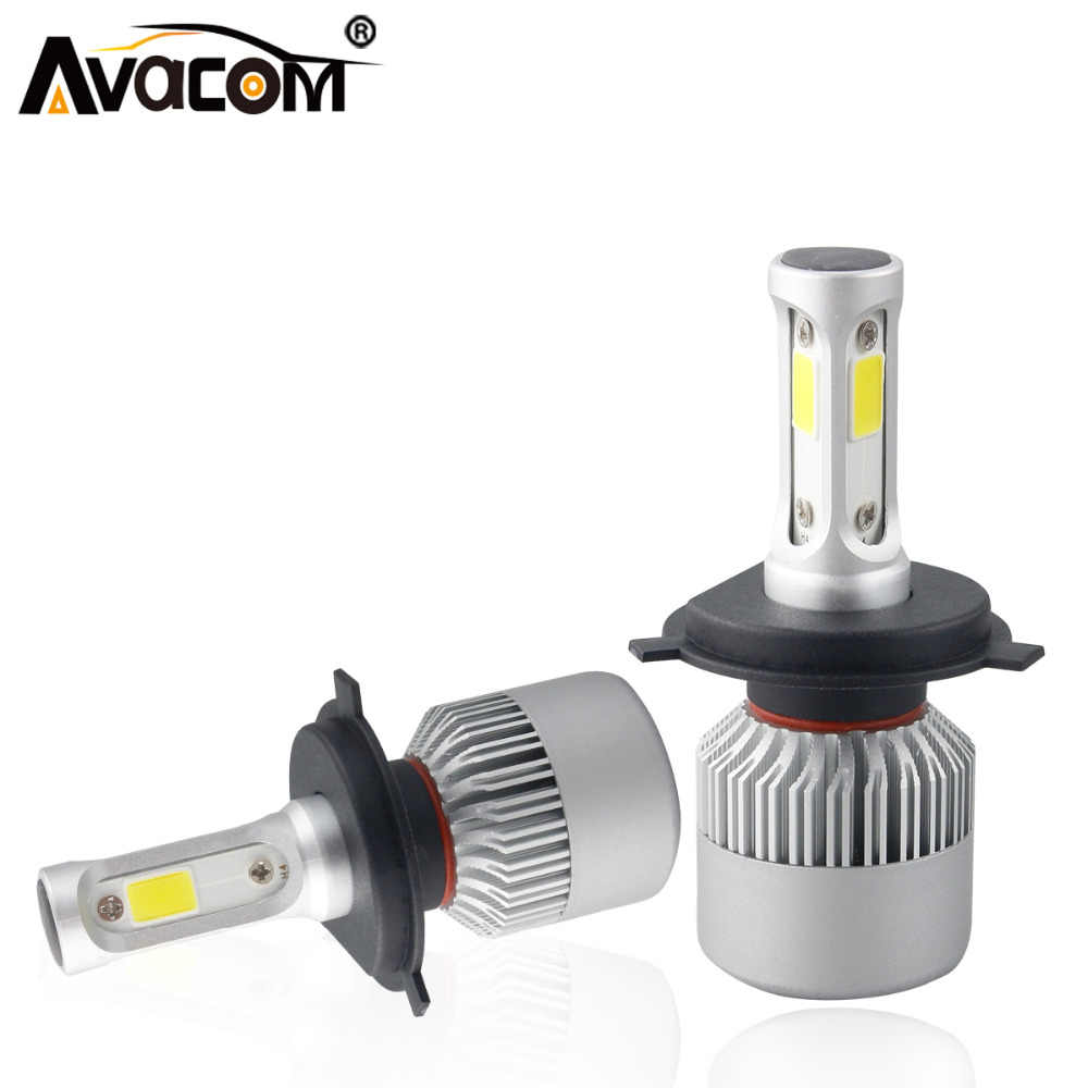 Avacom 2 Pieces H4 HS1 Motorcycle LED Headlight COB 6500K White 72W 8000Lm Farol LED H7 H11 Phare Moto Motorbike Headlamp