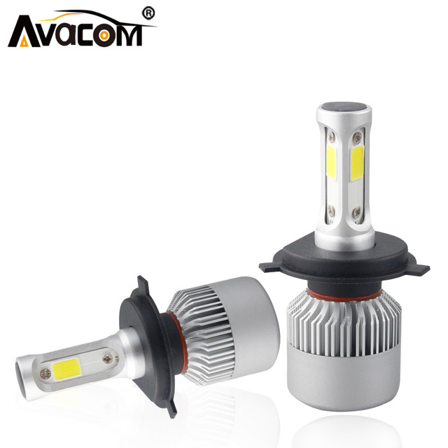 Avacom 2 Pieces H4 HS1 Motorcycle LED Headlight COB 6500K White 72W 8000Lm Farol LED H7 H11 Phare Moto Motorbike Headlamp