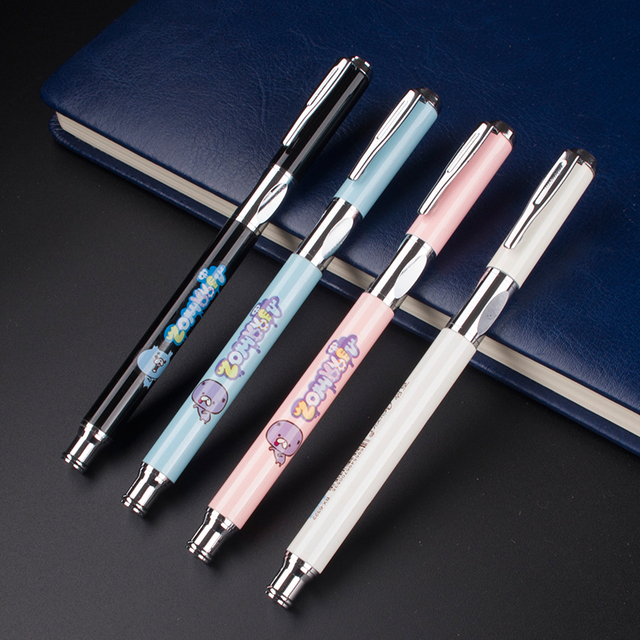 High Quality 4 Colors Selection Ink Pen Fine Nib Luxury School Office Stationery Best Writing