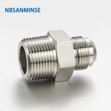 5 Pcs / Lot RHN Type Reducing Hex Nipple Tube Fittings Stainless Steel SS316L Plumbing Fitting High Quality Sanmin