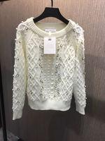 Новинка 2019 года бисер шерсть % свитер 1 цвета 3 размера зимняя одежда для женщин