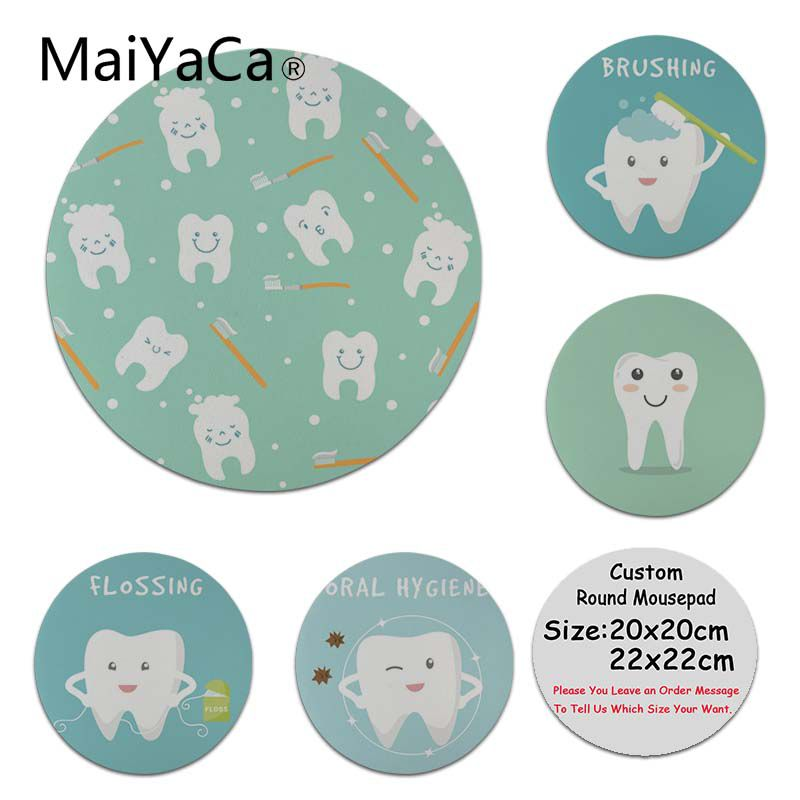 MaiYaCa Skin Dentist Dental Dent Tooth Cute Teeth High Speed New Mousepad Customized MousePads Computer Laptop Anime Mouse Mat