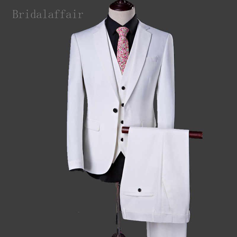 Bridalliaison derniers hommes Costume Blazer gilet avec pantalon ensemble 3 pièces de bal de mariage marié Costume de smoking pour hommes veste formelle Costume