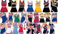 2018 Adult Kids Professional Competion Cheerleader Uniform Pom Pom Costume Sport Outfit Male Female