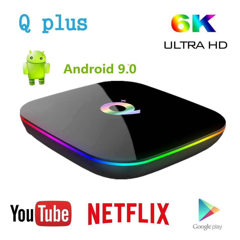 T95 Q plus Smart Android 9.0 TV Box Allwinner H6 4 GB 32 GB 64 GB 1080 P H.265 6 K lecteur multimédia 2.4G Wifi décodeur PK MI Box