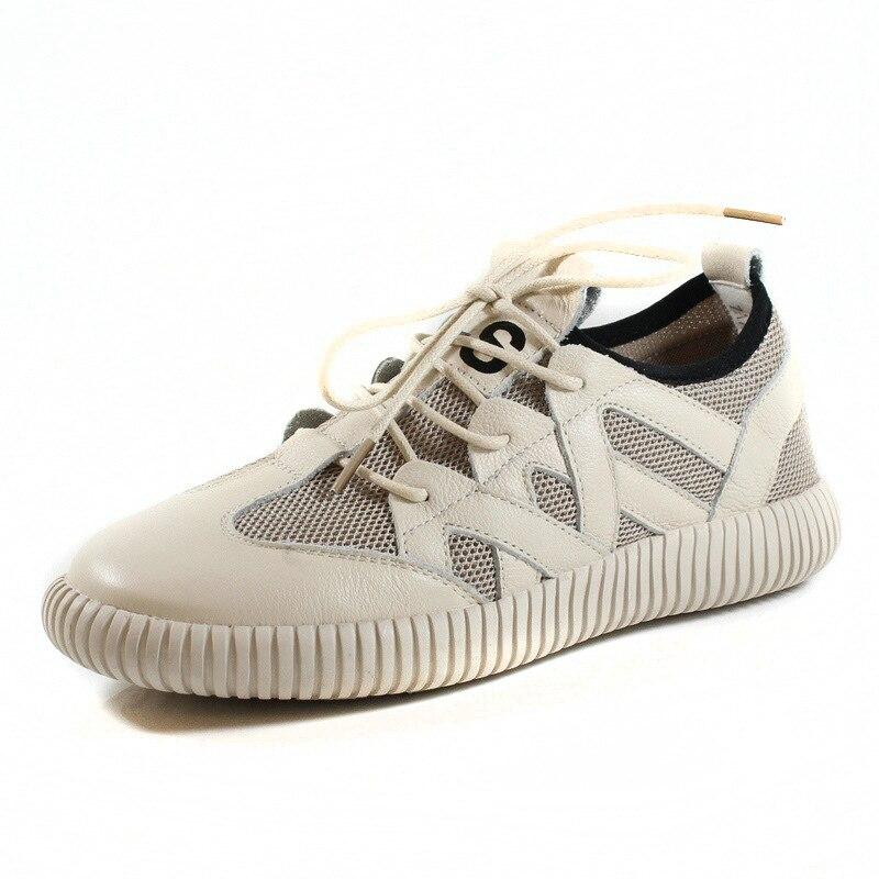 2018 nouvelles chaussures décontractées en cuir chaussures pour femmes en tissu plat chaussures à fond souple à la main version coréenne japonaise