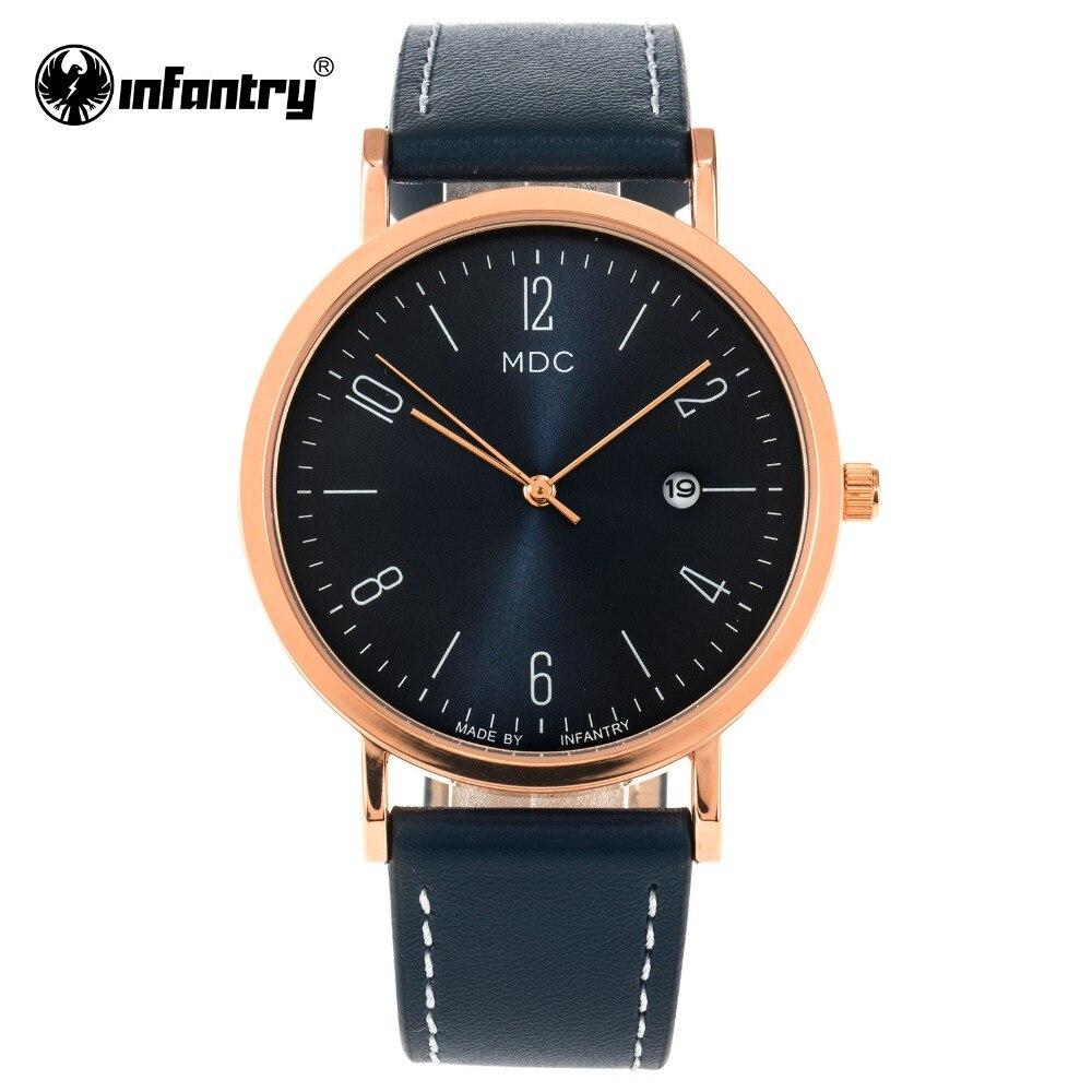 MDC Women Watches Top Brand Luxury Minimalist Watch Women Ladies Rose Gold Thin Slim Wristwatch Blue Leather Relogio Feminino