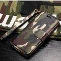 Case para iphone 5 5s pone camuflagem de luxo estojo de couro pu capa para iphone 5 5s se alta qualidade telefone bag capa Coque