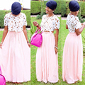 2016 Robe De soirée mangas rosa Vestido De noche 2 unidades Vestido De Festa Longo africana largos por la noche una línea vestidos De noche