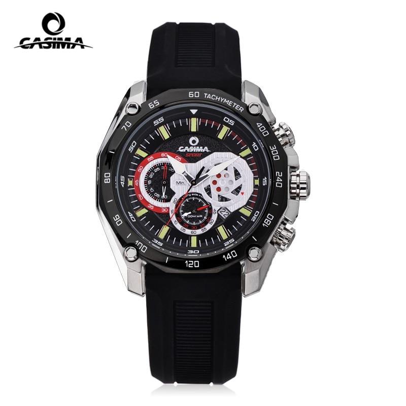 ФОТО Luxury brand sports watch men's quartz watch fashion luster silicone watch Relogio Masculino waterproof 100 meters CASIMA