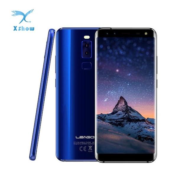 Original LEAGOO S8 Smartphone 5.72 HD+ IPS 1440*720 Screen Android 7.0 MTK6750 3GB+32GB Quad-Cam Fingerprint 4G Mobile Phone