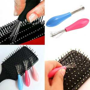 Home 1 Pc Stainless Steel Durable Mini Useful Comb Hair Brush Cleaner