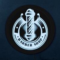 Vintage Barber Shop Pole LED Neon Sign Lighting Barber Business Brand Logo Open Sign LED Hanging Board Hair Store Advertisement