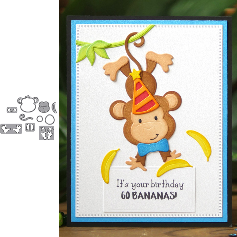 Metal Cutting Dies Animal Monkey New 2019 Stencils For Scrapbooking Embossing Paper Craft Die Album Paper Cards Making