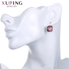 Xuping Jewelry Stylish Elegant Shinning Hoop Earrings for Women Crystals from Swarovski Exquisite Prime Gifts S180.1-95088(China)