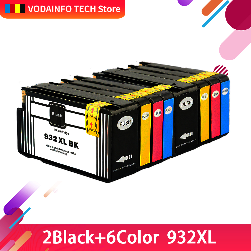 Ink cartridge for HP 932 XL 933 HP932XL for HP 932XL 933XL HP932 XL For HP Officejet 6100 6600 6700 7110 7610 7612 1 set