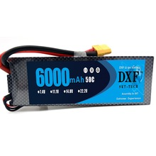 DXF  Battery Pack,KCRTEK RC Pack 7.4V 50C 2S 6000mAh for Airplane Helicopter Car Truck