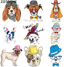 ZOTOONE Cute Dog Cartoon Iron on Patch for Kids Clothes Sticker DIY Animal Thermal Heat Applique Transfer T-shirt Printed G