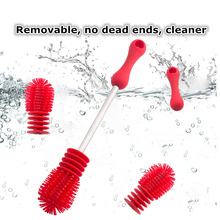Silicone Baby Bottle Brush Creative High-density Bristles Cleaner for Kids Milk Feed