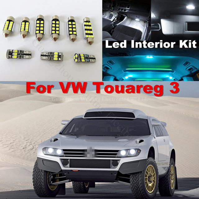 Wljh X Pure White No Error Dome Reading Truck Car Interior Lighting Kit For Vw Volkswagen