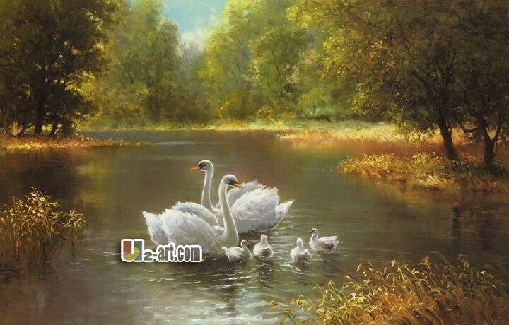 ⊹Impresiones de la lona ( Max Weber cisnes ) el envío gratis regalo ...