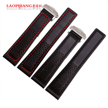 LaopijiangLeather strap substitute Calera Marvin watch strap heritage lines friction parts 22mm