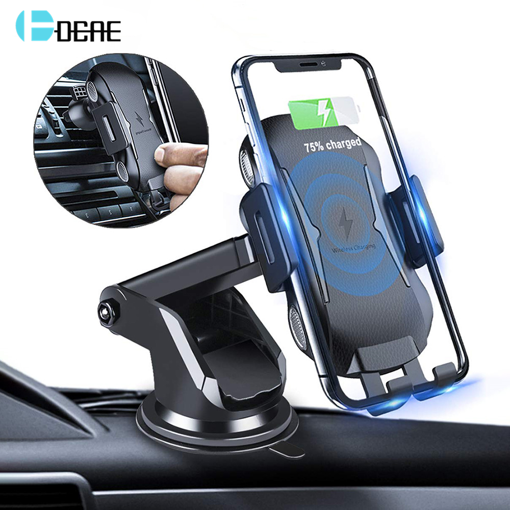 DCAE Qi Wireless Car Charger Auto Clamp Mount 10W Fast