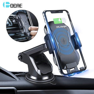Car-Charger Smasung Wireless Air-Vent-Phone-Holder iPhone 11 DCAE 10W for Pro XS Auto-Clamp-Mount