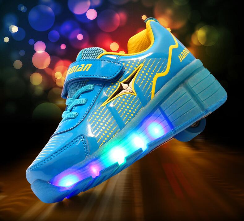 Children Glowing Sneakers High qualitty Led Light up Glowing Shoe Boy Girl zapatillas hombre,Free shipping children glowing sneakers kids roller skate shoes with wheels led light up glowing shoes for boy girls zapatillas hombre