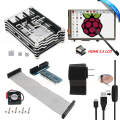 "HDMI 3.5"" Touch Screen LCD+Ultimate Starter Kit for Raspberry Pi 3 2 / 9 Layers Case+ 5V 2.5A Power Supply+Cable+Fan+Heat Sink"