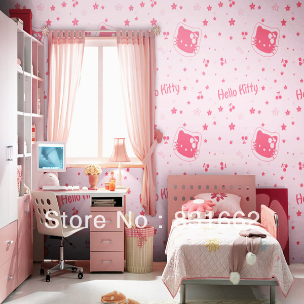 Free Shipping Paper Wallpaper Baby Room Eco Friendly Non
