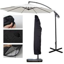 Открытый банан зонтик крышка водонепроницаемый ткань Оксфорд сад всепогодный патио консольный зонтик дождевик аксессуары