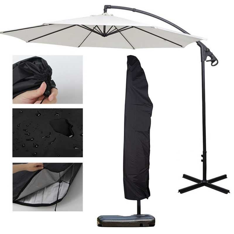 Outdoor Banana Umbrella Cover Waterproof Oxford Cloth Garden Weatherproof Patio Cantilever Parasol Rain Cover Accessories
