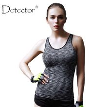 Detector Women Sleeveless Running Vest Tank Tops Quick Dry Loose Vest Gym Fitness Sport Singlet for Jogging(China)