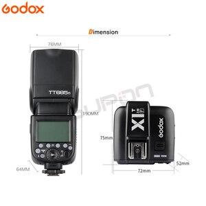 Image 2 - 2*Godox TT685F TT685 Flash 2.4G HSS 1/8000 s TTL GN60 Wireless Speedlite + X1T N Transmitter + gift for Fujifilm Fuji Camera