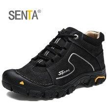 SENTA hiver en cuir véritable en peluche garder au chaud chaussures de randonnée Trekking escalade anti-dérapant Sport de plein air bottes confortables